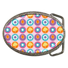 Chic Floral Pattern Belt Buckles