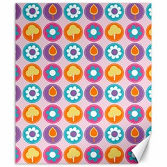 Chic Floral Pattern Canvas 20  X 24