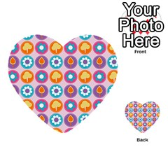 Chic Floral Pattern Multi Purpose Cards (heart)