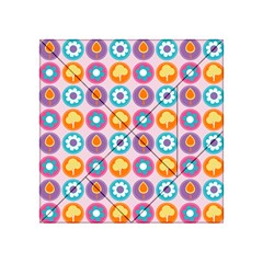 Chic Floral Pattern Acrylic Tangram Puzzle (4  X 4 )