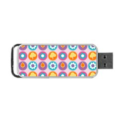 Chic Floral Pattern Portable USB Flash (Two Sides)
