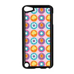 Chic Floral Pattern Apple iPod Touch 5 Case (Black)