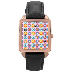Chic Floral Pattern Rose Gold Watches