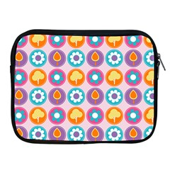 Chic Floral Pattern Apple iPad 2/3/4 Zipper Cases