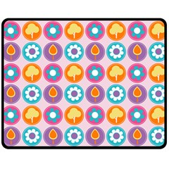 Chic Floral Pattern Double Sided Fleece Blanket (medium)