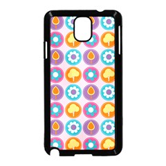 Chic Floral Pattern Samsung Galaxy Note 3 Neo Hardshell Case (Black)