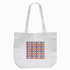 Chic Floral Pattern Tote Bag (white)
