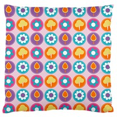Chic Floral Pattern Standard Flano Cushion Cases (One Side)