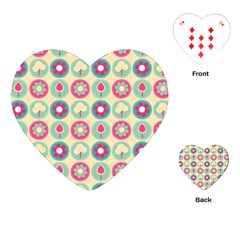 Chic Floral Pattern Playing Cards (heart)