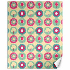 Chic Floral Pattern Canvas 11  x 14