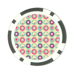 Chic Floral Pattern Poker Chip Card Guards