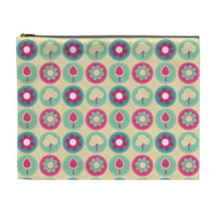 Chic Floral Pattern Cosmetic Bag (XL)