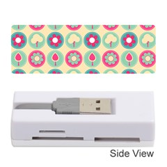 Chic Floral Pattern Memory Card Reader (Stick)