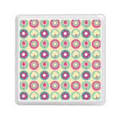 Chic Floral Pattern Memory Card Reader (square)