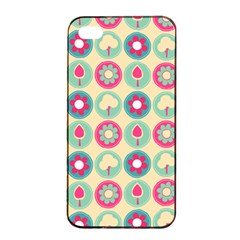 Chic Floral Pattern Apple iPhone 4/4s Seamless Case (Black)