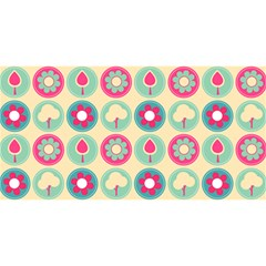 Chic Floral Pattern YOU ARE INVITED 3D Greeting Card (8x4)