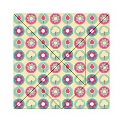 Chic Floral Pattern Acrylic Tangram Puzzle (6  X 6 )