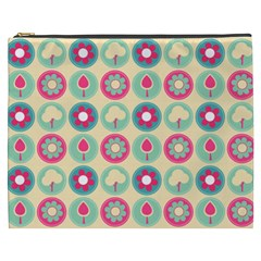 Chic Floral Pattern Cosmetic Bag (XXXL)