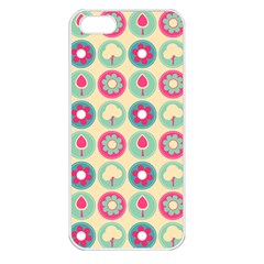Chic Floral Pattern Apple iPhone 5 Seamless Case (White)