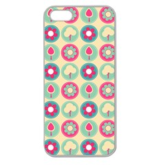 Chic Floral Pattern Apple Seamless iPhone 5 Case (Clear)