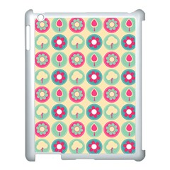 Chic Floral Pattern Apple iPad 3/4 Case (White)