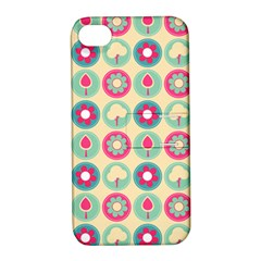 Chic Floral Pattern Apple iPhone 4/4S Hardshell Case with Stand