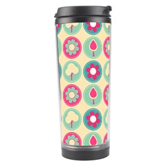 Chic Floral Pattern Travel Tumblers