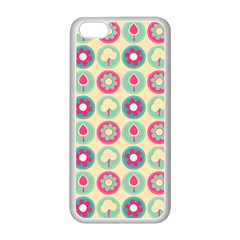 Chic Floral Pattern Apple iPhone 5C Seamless Case (White)
