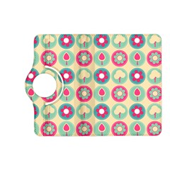 Chic Floral Pattern Kindle Fire Hd (2013) Flip 360 Case