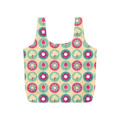 Chic Floral Pattern Full Print Recycle Bags (S)