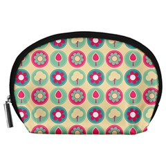 Chic Floral Pattern Accessory Pouches (Large)