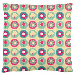 Chic Floral Pattern Large Flano Cushion Cases (Two Sides)
