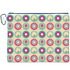 Chic Floral Pattern Canvas Cosmetic Bag (XXXL)