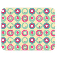Chic Floral Pattern Double Sided Flano Blanket (Medium)