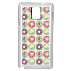 Chic Floral Pattern Samsung Galaxy Note 4 Case (white)