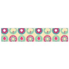 Chic Floral Pattern Flano Scarf (Small)