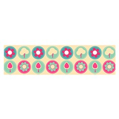 Chic Floral Pattern Satin Scarf (Oblong)