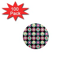 Chic Floral Pattern 1  Mini Magnets (100 pack)