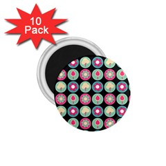 Chic Floral Pattern 1.75  Magnets (10 pack)