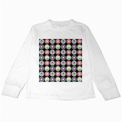 Chic Floral Pattern Kids Long Sleeve T-Shirts