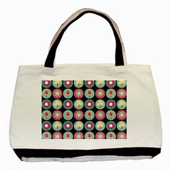 Chic Floral Pattern Basic Tote Bag (two Sides)