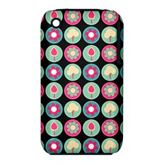 Chic Floral Pattern Apple iPhone 3G/3GS Hardshell Case (PC+Silicone)