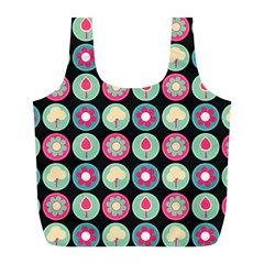Chic Floral Pattern Full Print Recycle Bags (l)
