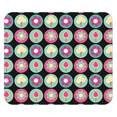 Chic Floral Pattern Double Sided Flano Blanket (Small)
