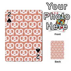Salmon Pretzel Illustrations Pattern Playing Cards 54 Designs