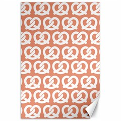 Salmon Pretzel Illustrations Pattern Canvas 20  X 30