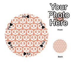 Salmon Pretzel Illustrations Pattern Playing Cards 54 (Round)