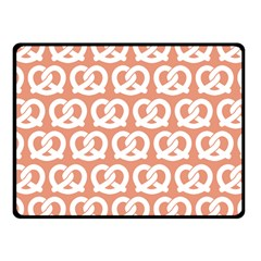 Salmon Pretzel Illustrations Pattern Fleece Blanket (small)