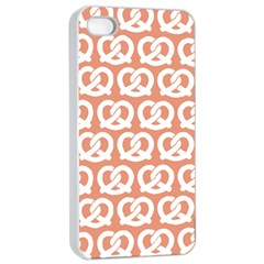 Salmon Pretzel Illustrations Pattern Apple Iphone 4/4s Seamless Case (white)