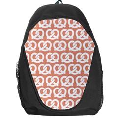 Salmon Pretzel Illustrations Pattern Backpack Bag